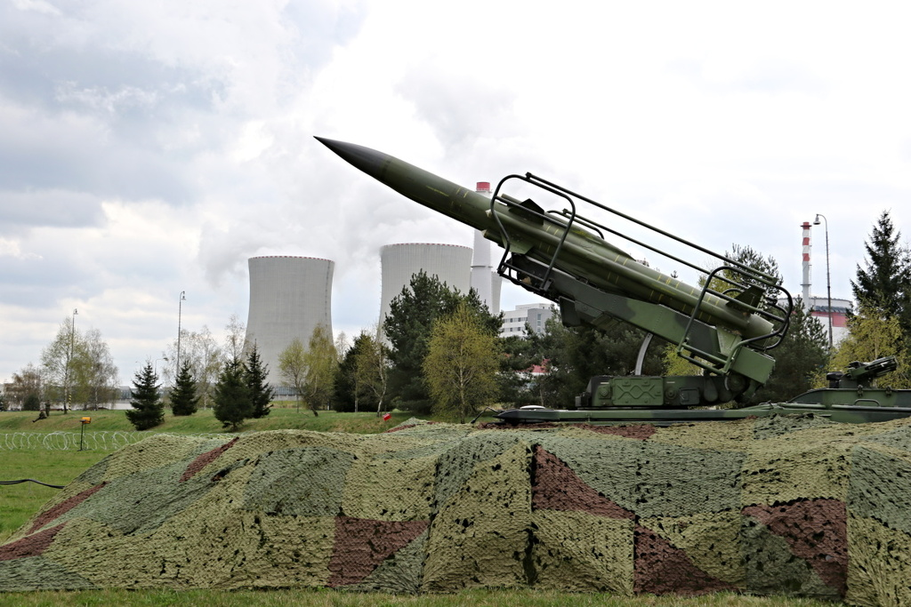 A KUB missile system at the Temelin nuclear power plant