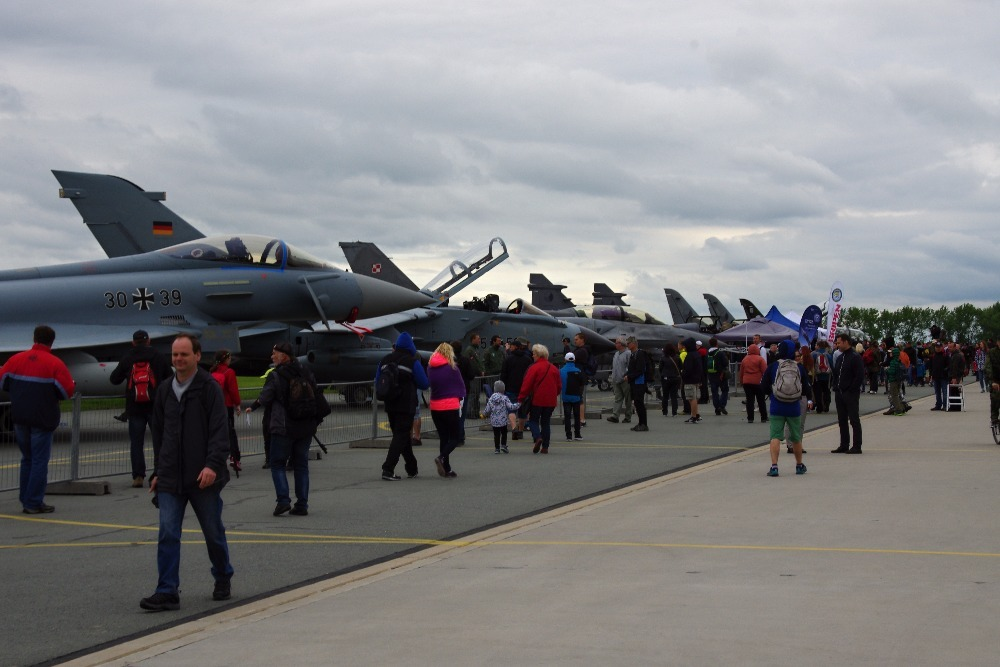 Static display of aircraft