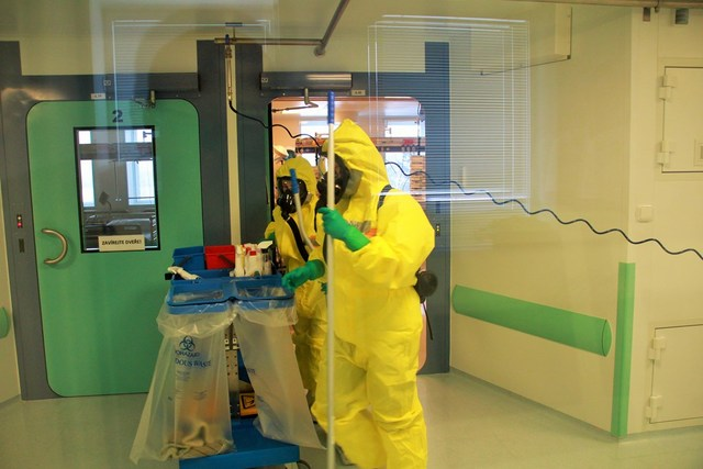Normal room cleaning means complete decontamination