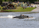 Floating 2013: Czech flag hoisted and a wheeled vehicle MT-LB afloat