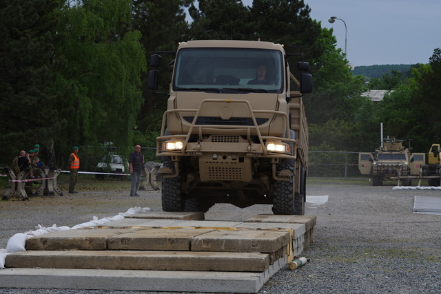 Demonstration of a new Tatra truck