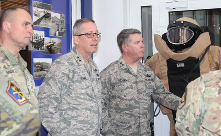 Commander of Nebraska National Guard Major General Daryl Bohac and Commander of Texas National Guard Major General John Nichols in Bechyne