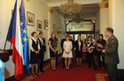 Winners of the literary contest at the Ministry of Defence