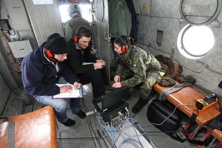 First evaluation of collected data aboard the helicopter