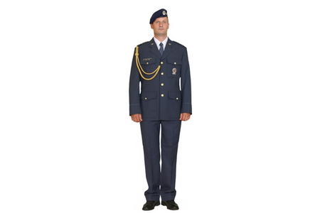 Parade uniform 97 with beret, Air Force, with golden string 97
