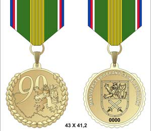 Honorary Remembrance Medal to the 90th Anniversary of the Czech Republic