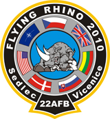FLYING RHINO 2010 Badge