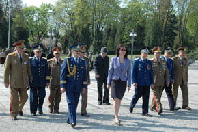 Romanian war veterans around Ms. Daniela Gitman, Ambassador of Romania to the Czech Republic (1)