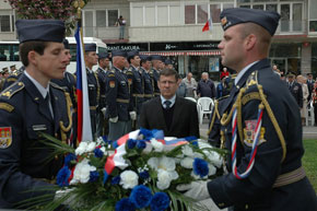 Deputy defence minister Frantisek Padelek at the ceremony in front of the War Pilots Memorial in Prague