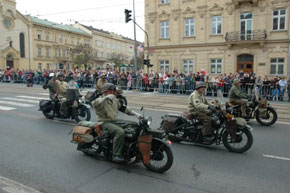 Ride of historical motorcycles - Convoy of Liberty