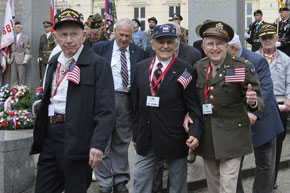 US veterans march along streets of Pilsen after 65 years again