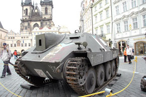 Historical vehicle used by Czechs during Prague Uprising 1945