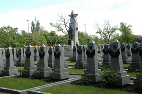 Cemetery of Soviet WWII soldiers